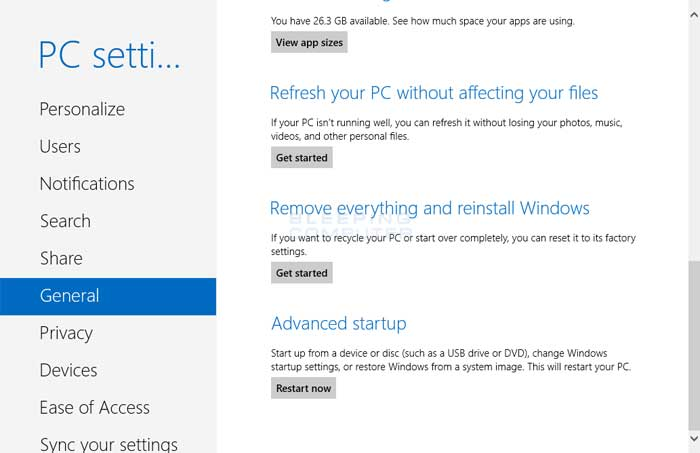 How to use System Restore from the Windows 8 Recovery