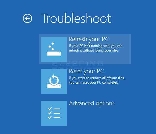 How To Access The Advanced Startup Options Menu In Windows 8
