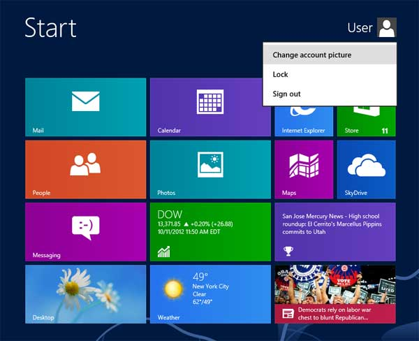how to change user account picture in windows 8.1