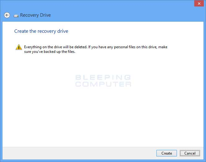 make a windows recovery usb