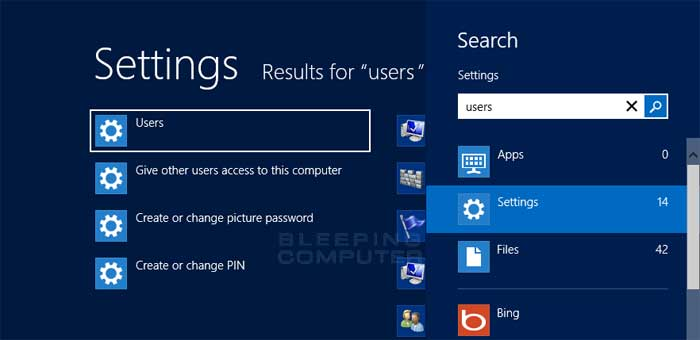change password on windows 8 lock screen