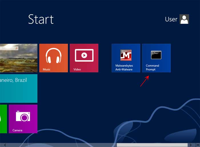 How to open an Elevated Command Prompt in Windows 8