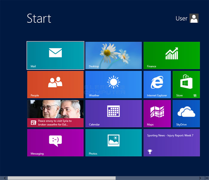 Introduction to the Windows 8 Start Screen