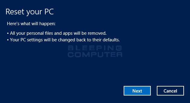 How to perform a clean install of Windows 8 using Reset your PC