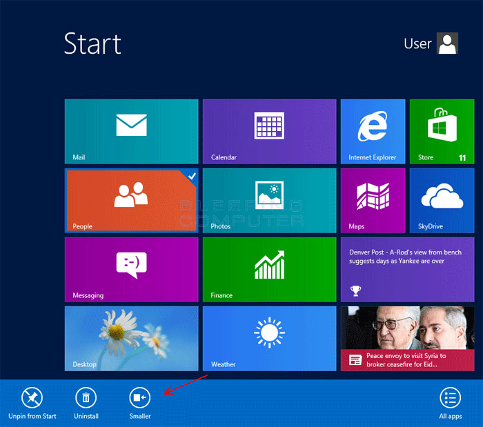 how to resize move and create new app tile groups in windows 8