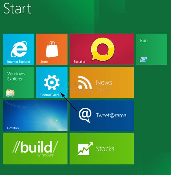 Metro User Interface Start Screen