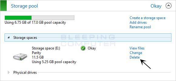 Delete Storage Pool