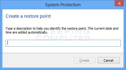Name the restore point
