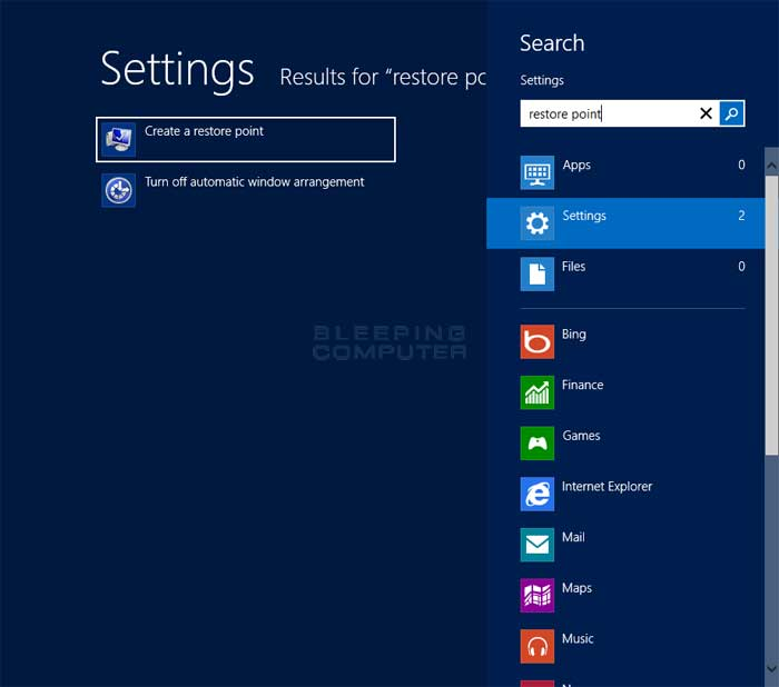how to return windows 8 back to factory settings