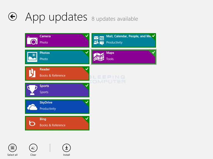 Available updates