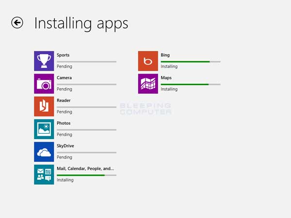 Updating the apps