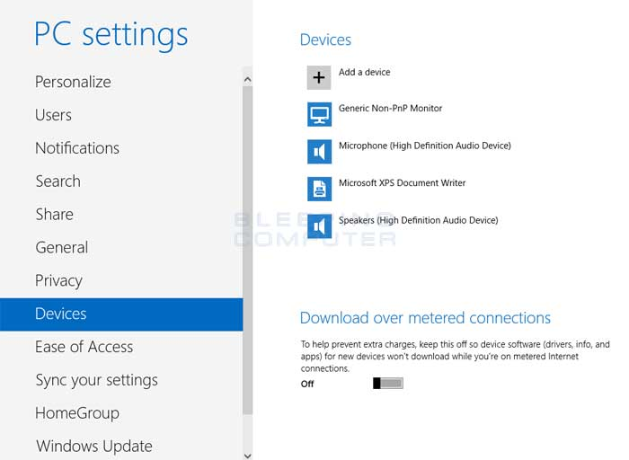 Devices Settings