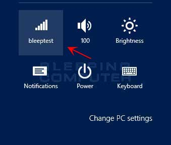 Settings Charm Bar
