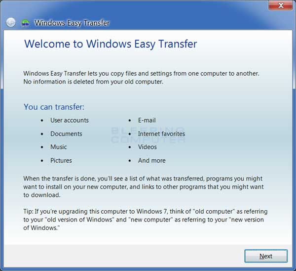 Easy Windows Transfer