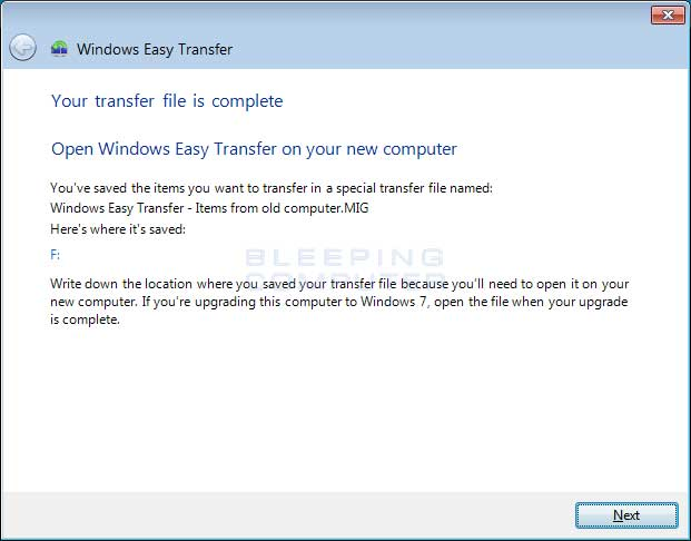 how to use windows easy transfer 8