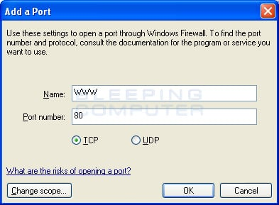 Creating an exception for the http protocol