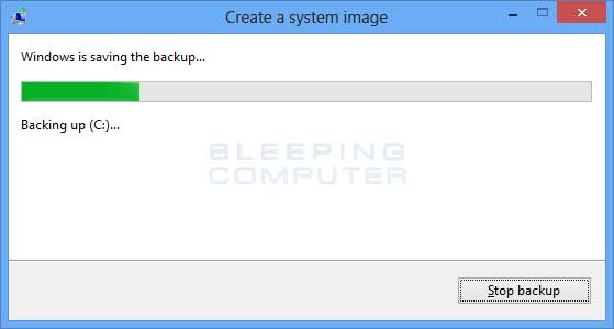 Backing up the image