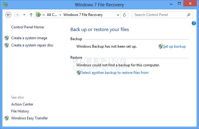 how to make a system image windows 7