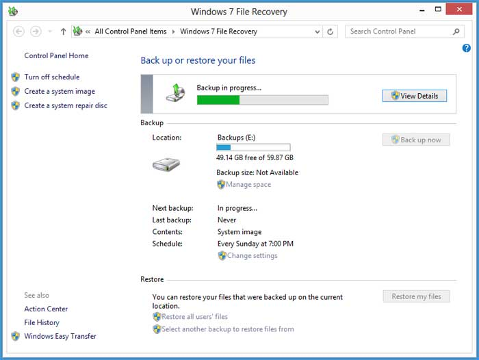 How to create a Windows system image in Windows 7 and Windows 8