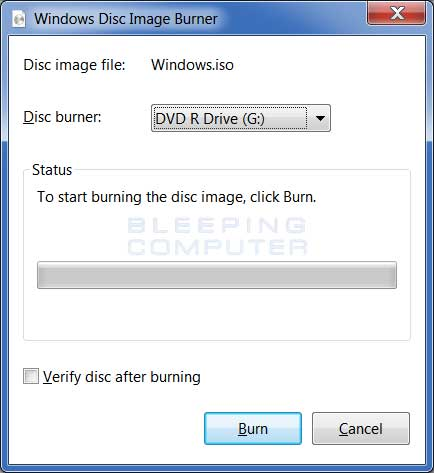 Windows Disc Image Burner Software Download