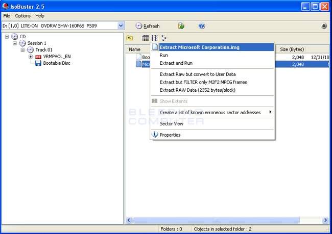 Extract bootable image from Windows XP CD